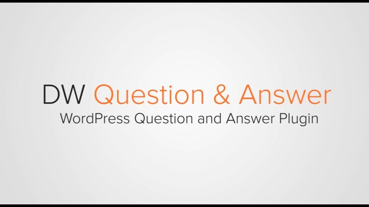 DW Question & Answer – WordPress plugin | WordPress org