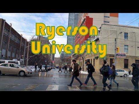 Drive through Ryerson University, Toronto, Canada