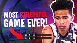 Most Stressful Fortnite Game Ever! Low Ammo & Health ALL GAME! Fortnite Battle Royale