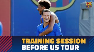 Last training session before the trip to Miami