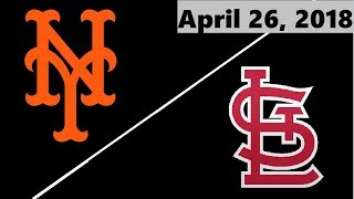 New York Mets vs St. Louis Cardinals Highlights || April 26, 2018
