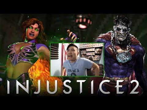Injustice 2 - Starfire & Bizarro Premier Skin Reveal Trailer! [REACTION]