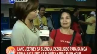 UB: Ilang jeepney sa Buendia, eksklusibo para sa mga babae, bata, PWDs at elderly kapag rush hour