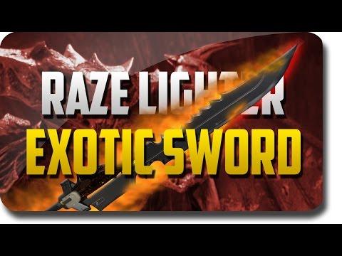 "Destiny Game ""The Taken King"" ""Raze Lighter"" Exotic Sword Review (Destiny Exotic Sword Quest)"