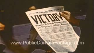 Day Paris 1945 End of WWII in Europe Raw Archival Footage - Part TWO  PublicDomainFootage.com