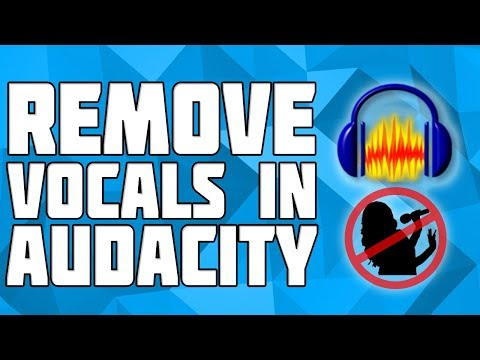 Remove Vocals From A Song in Audacity! Remove Singing from a Track! Vocal Remover in Audacity!