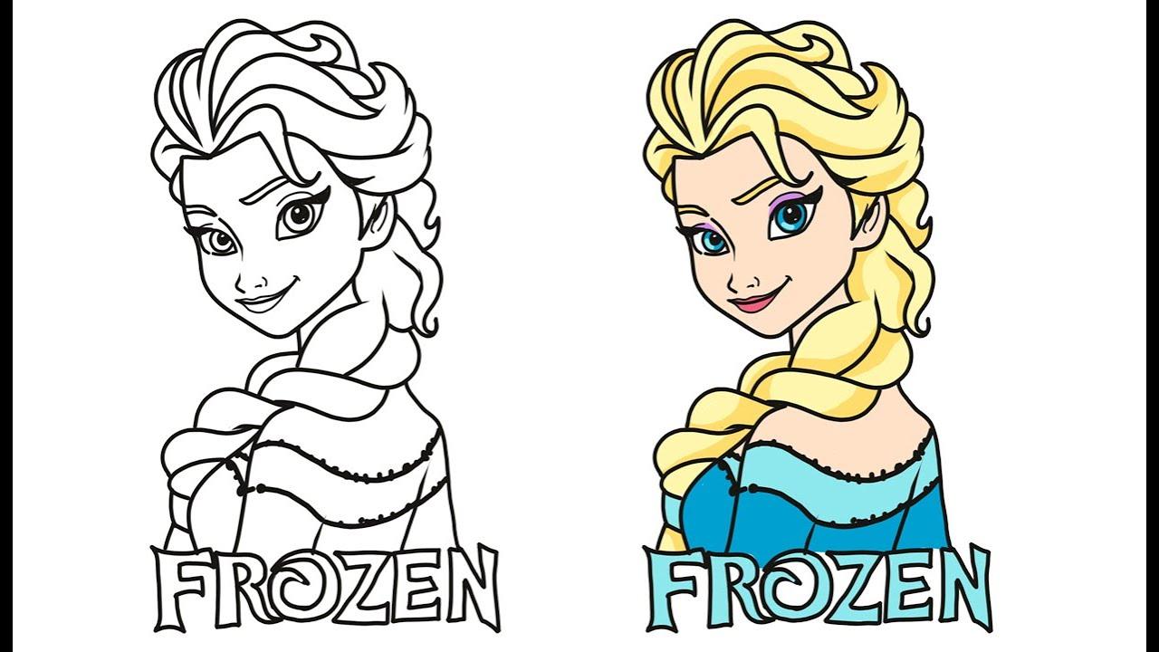 94+ Gambar Mewarnai Frozen Paling Hist