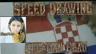 Drawing Croatian Flag 2014 WORLD CUP
