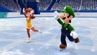 Mario and Sonic at the Sochi 2014 Olympic Winter Games: Figure Skating Pairs #1