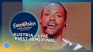 Cesár Sampson represented Austria at the first Semi-Final of the 20...