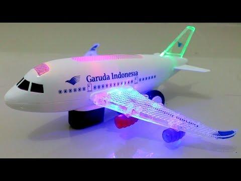 Mainan pesawat terbang Garuda Indonesia | airplane toy for kids