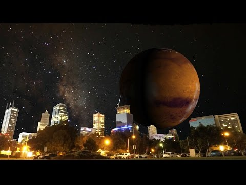 If the Moon were replaced by some of our planets - Mars