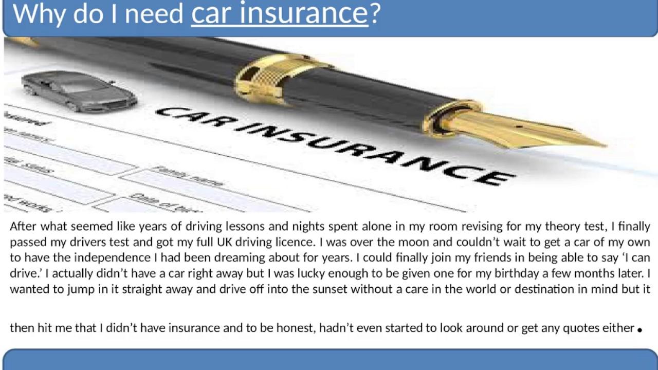 Why Do I Need Car Insurance Youtube
