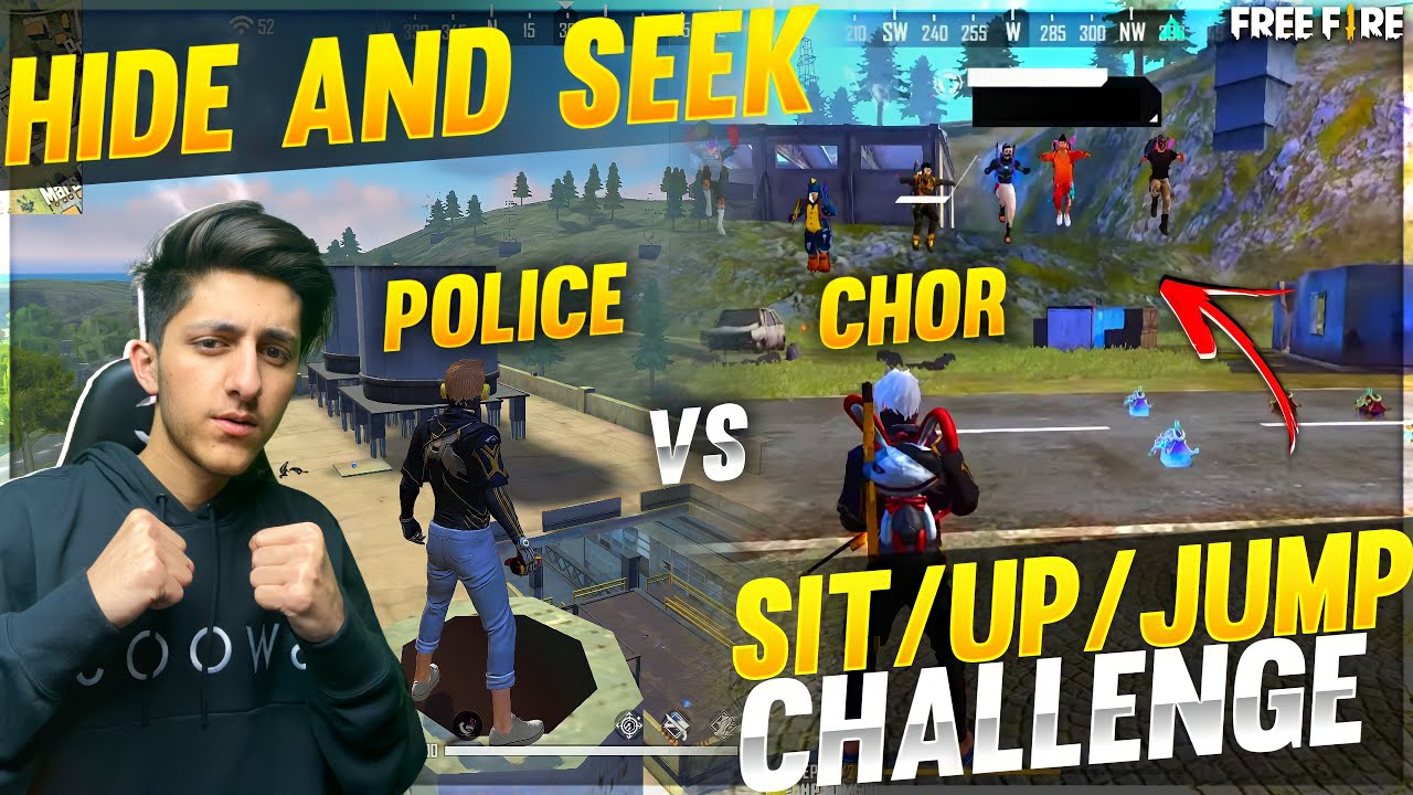 Download As Gaming Playing Hide and Seek In Factory Roof 😜 Funny Moment In Garena Free Fire #1