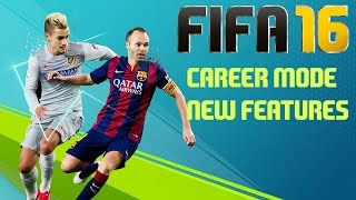 FIFA 16 Career Mode New Features!! Ft. Pre-Season Tournaments!!