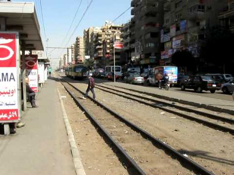 Metro on Mustafa An Nahas Nasr City Cairo Egypt