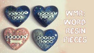Watch Me Resin: Word Resin Pieces // VelvetWay