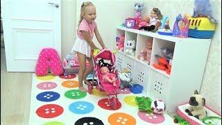 Новые игрушки Алисы КУКОЛКА Лялечка и Динозаврик с КОШКОЙ !!! New TOYS for children