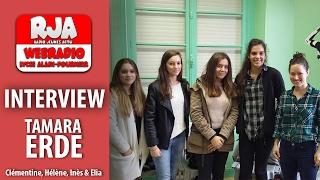 Interview de Tamara Erde  Radio Jeunes Actu