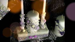 DIY Dollar Tree Wedding Unity Candle & Memorial Candle Set DIY Wedding Series Wk 7