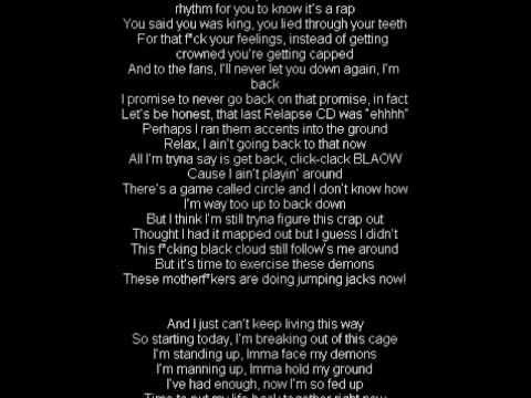 Eminem Not Afraid lyrics - YouTube