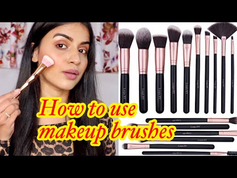 MAKEUP BRUSHES FOR BEGINNERS | Makeup Brushes & Their Uses | Affordable Makeup Brushes Set In India