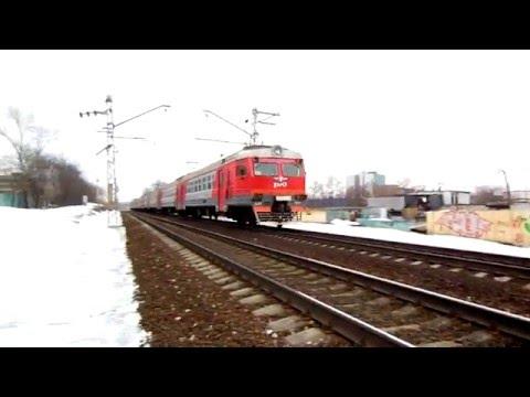 Электропоезд ЭД2т-0050 (ТЧ-3) пригородный поезд №6162, Чехов - Москва.