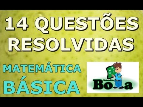 14 Questões de concurso de matemática básica resolvido - RJ