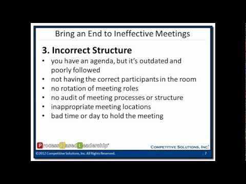 Communication - The Just Right Structure to Bring an End to Ineffective Meetings