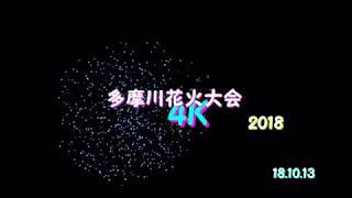 【4K】多摩川花火大会2018 また来年!!
