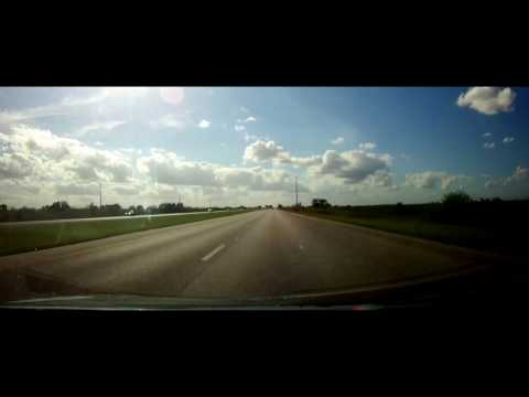 Driving across the Entire Alligator Alley - Interstate 75 - Florida