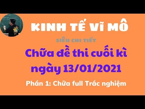 Kinh Tế Vĩ Mô: Chữa đề cuối kì 13/01/2021 Phần trắc nghiệm (Siêu chi tiết) ♥️ Quang Trung TV