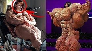 10 نساء من عمالقة كمال الأجسام من الصعب تصديق وجودهم !!