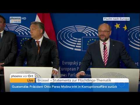 Flüchtlinge in Ungarn: Viktor Orbán und Martin Schulz zur aktuellen Lage am 03.09.2015