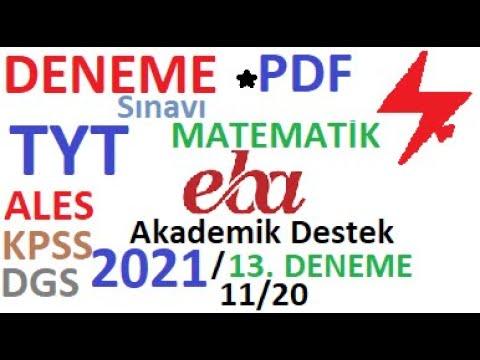 2021 EBA TYT DENEME-13