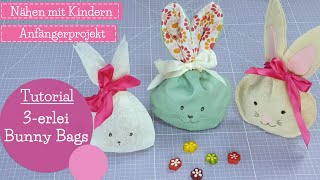 Hasenbeutel 3 Varianten nähen und basteln   Bunny Bags   DIY Nähanleitung   mommymade