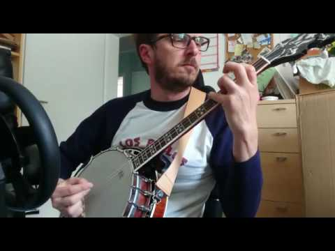 The Dubliners - Rocky Road to Dublin - Tenor Banjo Cover + Tabs Irish Tenor  Banjo GDAE