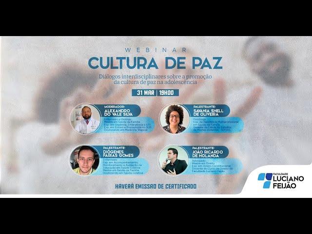 Webinar - A Multiprossionalidade para a Promoção da Cultura de Paz
