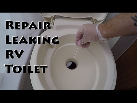 Leaking RV Toilet Easy Fix & Traveling North - YouTube
