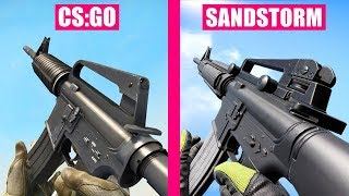 Counter-Strike Global Offensive vs Insurgency Sandstorm Weapons Comparison