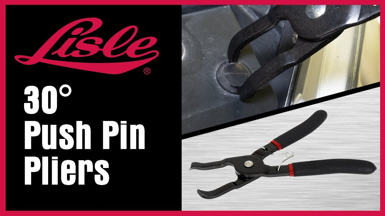 Lisle 42420 30 Degree Push Pin Pliers