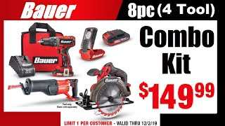 Bauer Combo Kits?  YES! & Cyber Monday Deals @ Harbor Freight
