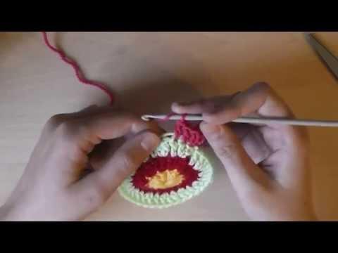 Круглый чехол на табурет: правило вязания круга - 2