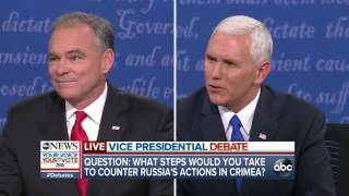 VP Debate Highlights | Pence, Kaine on Trump's Putin Comments