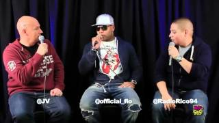 JV & Rico Interview Flo Rida @ Wild 94.9 on July 9,2012