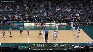 LMU vs Hawaii Game 3 of 3 Men's Volleyball - 20190217