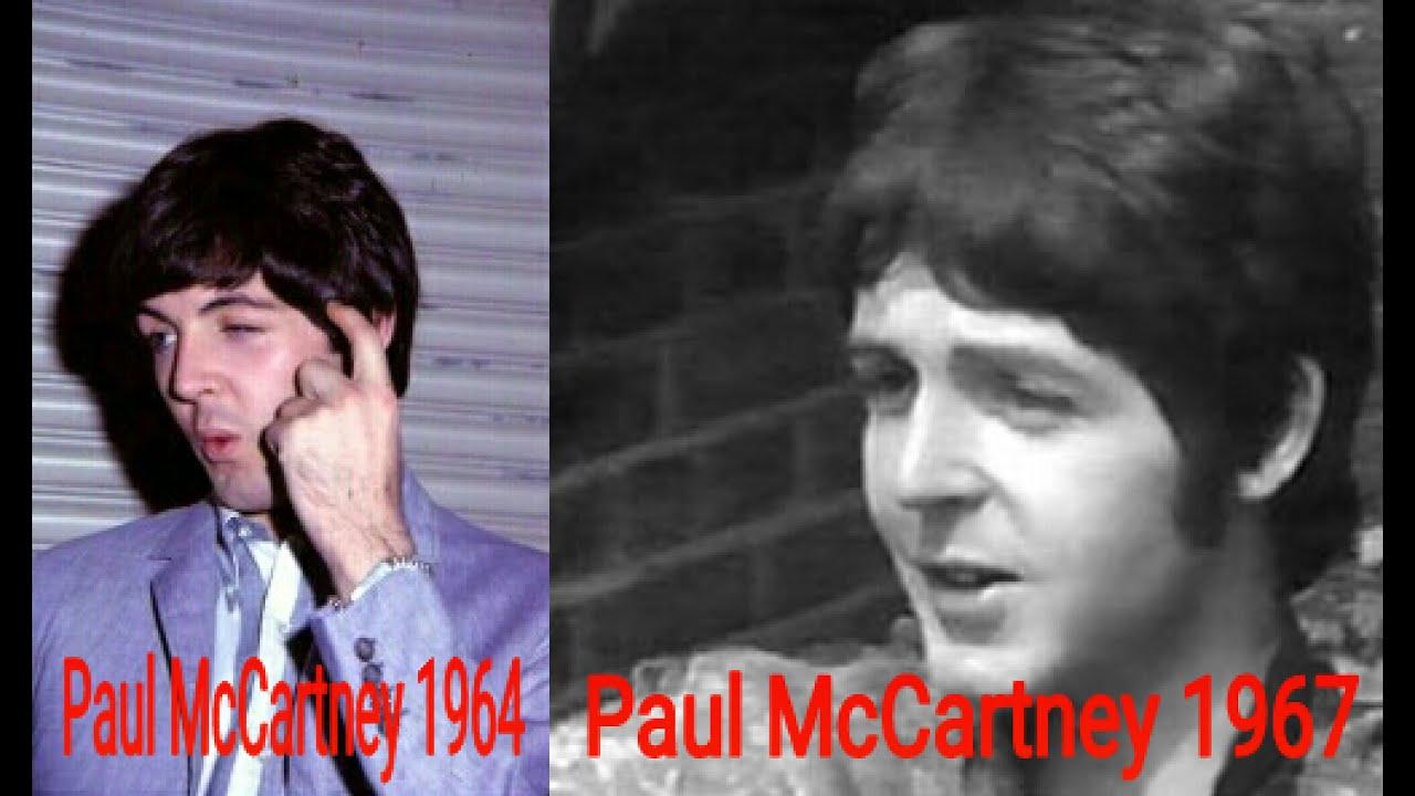 Paul McCartney Photo Comparison 1964 1967