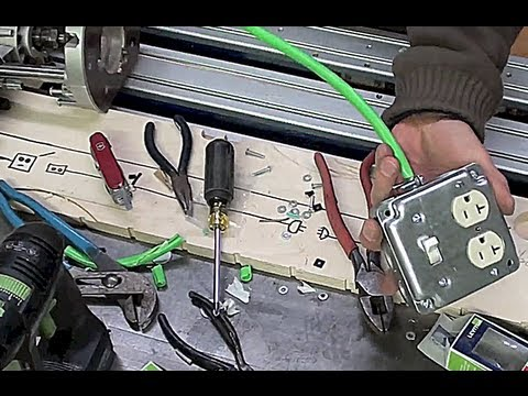3 of 3 diy extension cords make an extension cord with duplex box rh youtube com Extension Cord Wiring Colors Heavy Duty Extension Cords