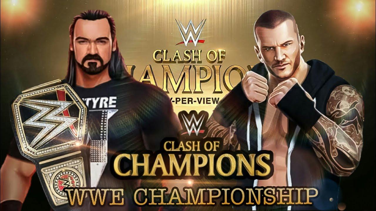 WWE Championship Match Drew McIntyre Vs Randy Orton at Clash of Champions in WWE Mayhem Ambulance 🚑