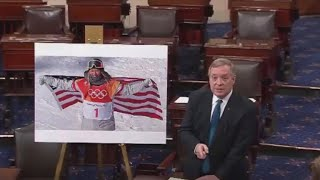 Durbin cites Olympian Chloe Kim in immigration debate